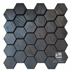 Hexagon 2 - black oak