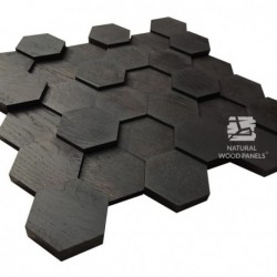 HEXAGON 7 - rovere nero 3D